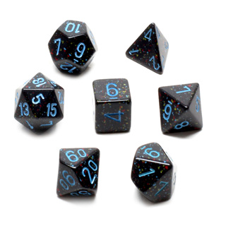 7 'Blue Stars' Speckled Dice