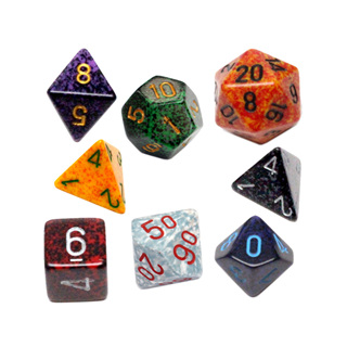7 Chessex Speckled Polyhedral Dice