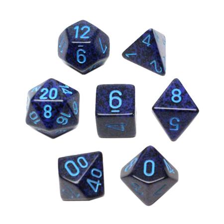 7 'Cobalt' Speckled Dice