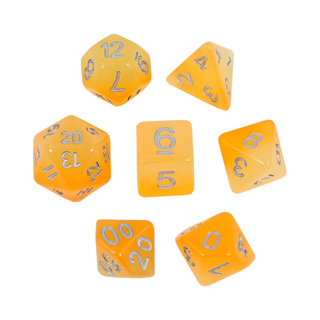 7 Faded Orange Glow in the Dark Dice