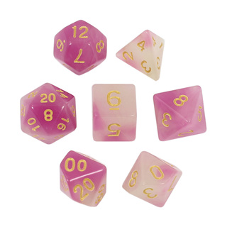 7 Faded Purple Glow in the Dark Dice