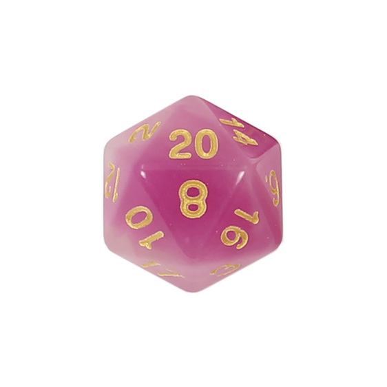 7 Faded Purple Glow in the Dark Polyhedral Dice with Gold Games and Hobbies NZ
