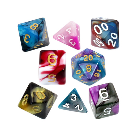 7 Fusion Polyhedral Dice