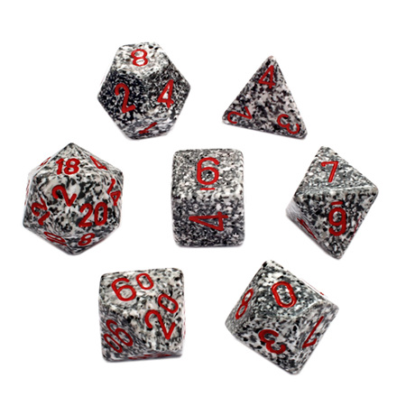 7 'Granite' Speckled Dice