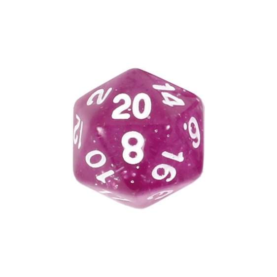 7 Pink with White Glitter Polyhedral Dice Games and Hobbies NZ