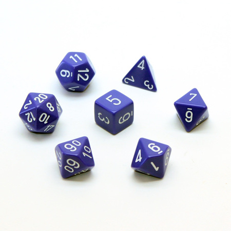 7 Purple with White Opaque Dice