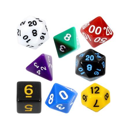 7 Standard Polyhedral Dice