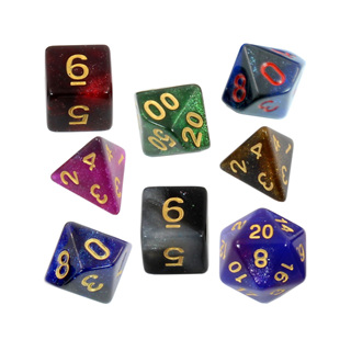 7 Stardust Polyhedral Dice