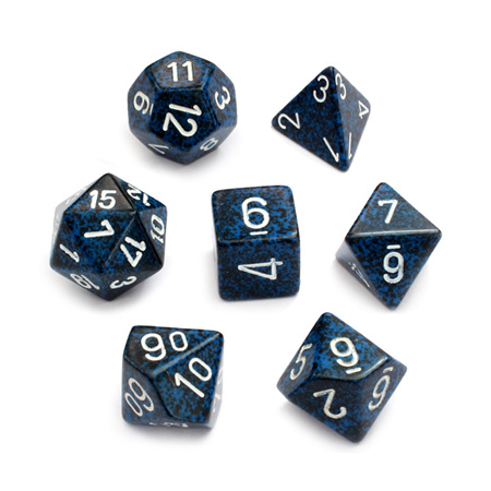 7 'Stealth' Speckled Dice