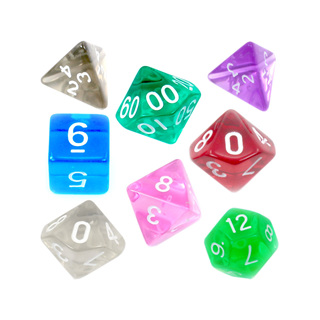 7 Translucent Polyhedral Dice