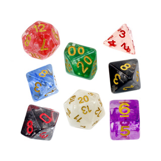 7 Vapour Polyhedral Dice