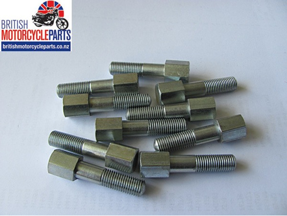 70-0409 Exhaust Clamp Bolt - CEI Thread - Triumph T90 T100 T120 up to 1967