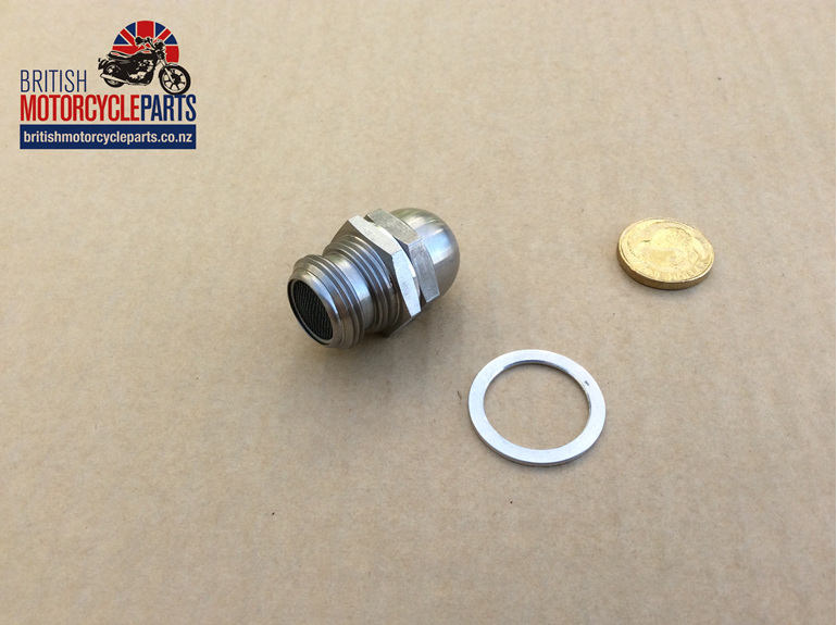 70-2795 Oil Pressure Release Valve with Tell Tale Button - Stainless Steel