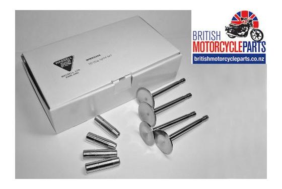 70-2899 70-1480 70-2900 70-1956 Triumph 5T Iron Head Valve & Guide Set 1946-59