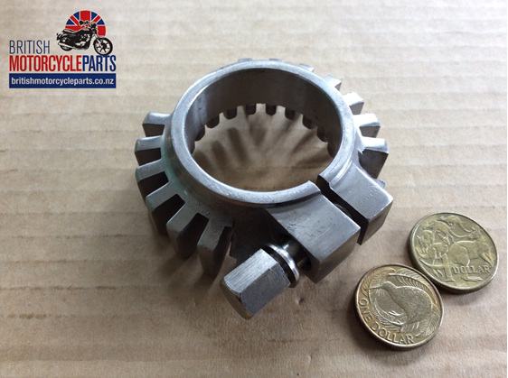 70-6743SS Finned Exhaust Clamp - Stainless - British Motorcycle Parts NZ