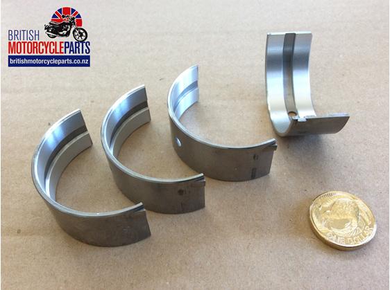"""70-9028 Main Bearing Shells Set -.020"""" - Triple - British Motorcycle Parts - NZ"""