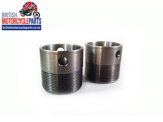 70-9516 Exhaust Stubs - Triumph TR6 T120 T140 TSS TSX - British Motorcycle Parts