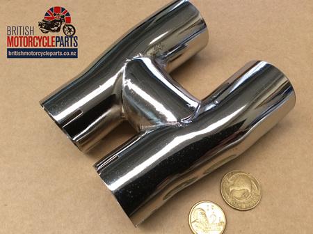 70-9673 H Piece Connector Pipe - TR6C T100C 1969-72