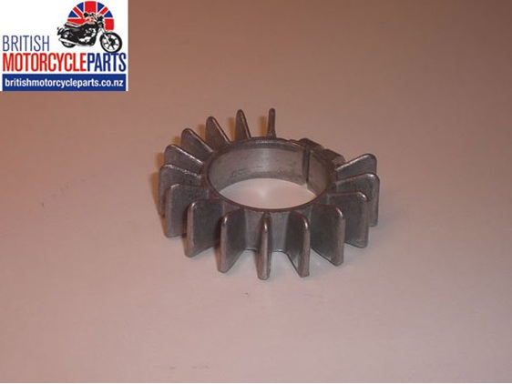 """71-2465 Finned Alloy Exhaust Clamp 1 3/8"""" Triumph T120 and T140 models"""