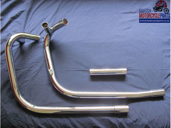 71-2636 71-2637 70-9888 Exhaust Pipes - Triumph T120 OIF - Push-In