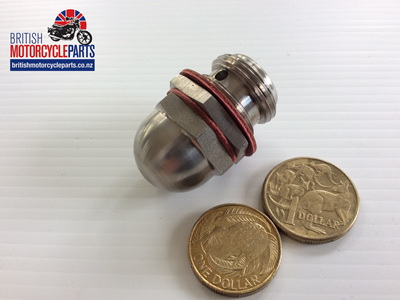 71-3447/S Oil Pressure Release Valve - Stainless Steel - Triumph
