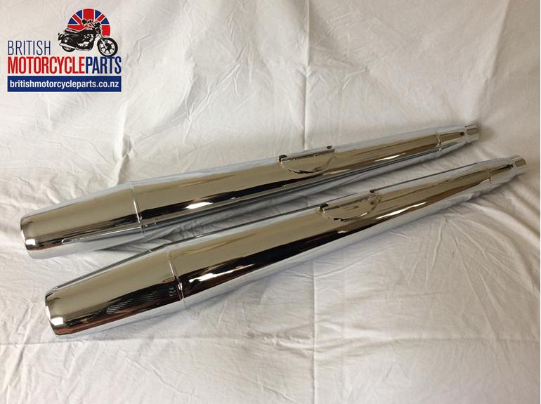 71-4159 Mufflers - Triumph TR7 T140 & T150 - 1974-82 - British Parts Auckland NZ