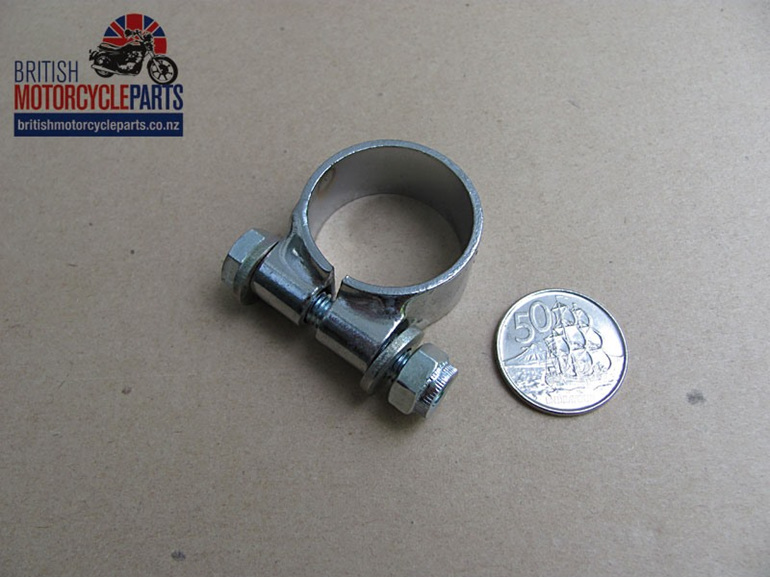 71-4458 Exhaust Clip - Exhaust Clamp - Collector Box to Inner Pipes Triumph T160