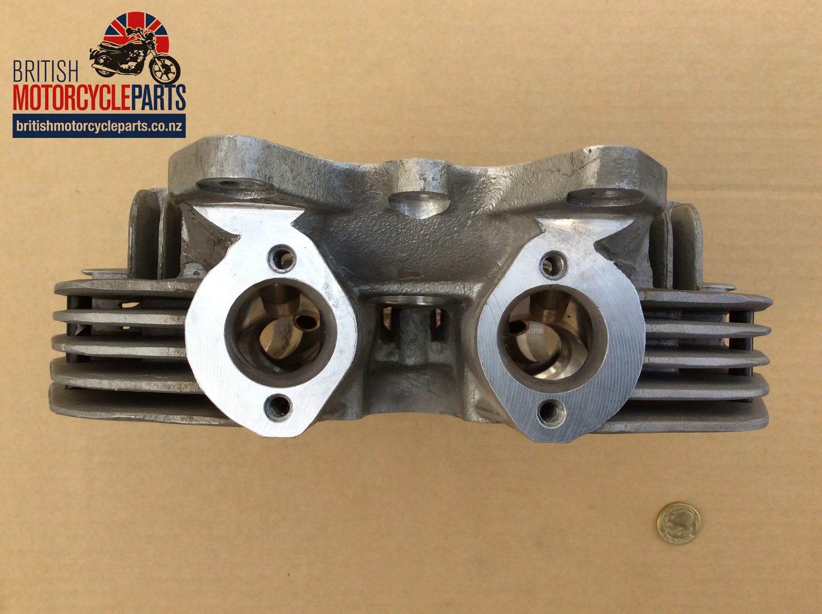 71-7505 cylinder head - triumph tr7 tiger - british motorcycle
