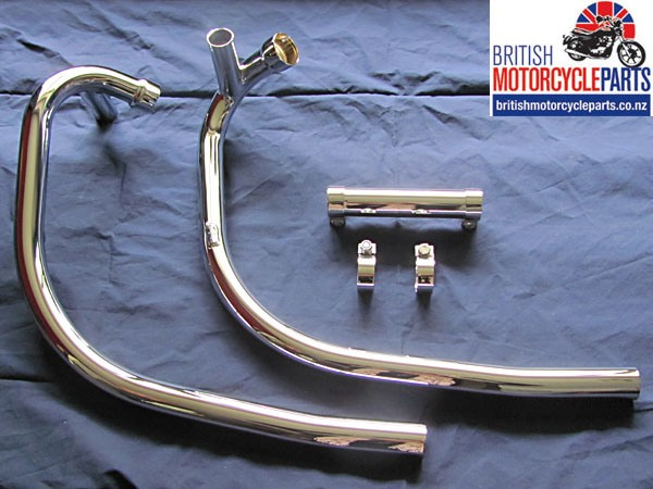 71-7507 71-7508 Triumph T140 Balanced Exhaust Pipes / Headers - Push Over