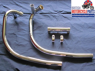 71-7507 Exhaust Pipes - Triumph T140 - Push-Over