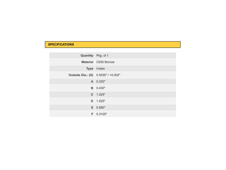 750cc Norton Commando Inlet Valve Guide Specifications - KPMI - Auckland NZ