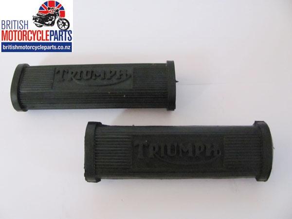 82-1695 Triumph Pillion Footrest Rubbers Flat Type