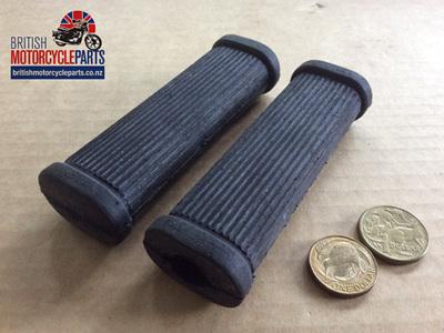 82-1695A Triumph Pillion Footrest Rubbers - No Logo - PAIR