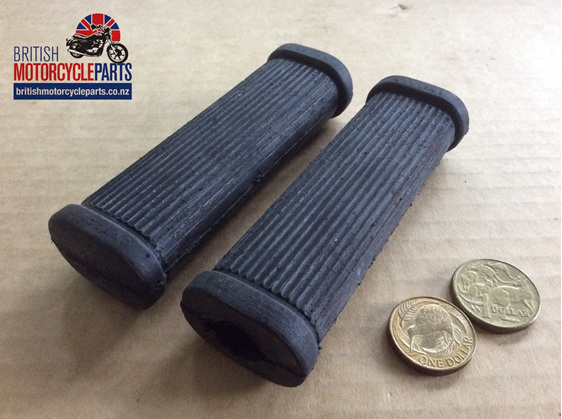 82-1695A Triumph Pillion Footrest Rubbers - No Logo - PAIR - British MC Parts