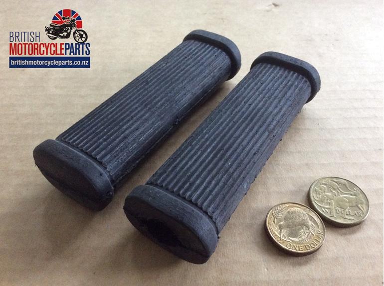 82-1695A Triumph Pillion Footrest Rubbers - No Logo - PAIR - British MC Parts