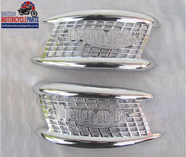 82-4127 82-4128 Tank Badges - Gate - Triumph 1957-65 - British MC Parts NZ