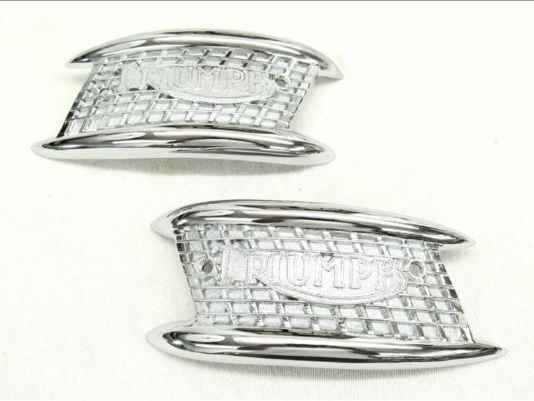 82-4766 82-4767 Petrol Tank Badges - 4 Gallon - Triumph 1960-65 - Pair