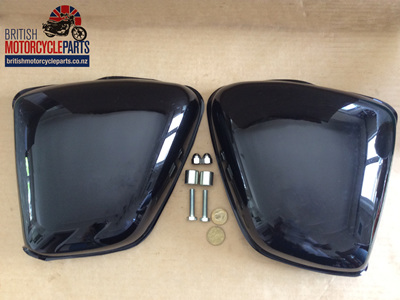 82-8042-OIF Classic Style Side Covers - BSA Triumph OIF Models