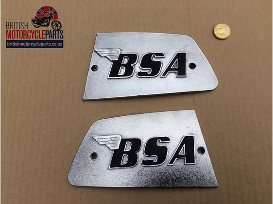 82-8610 82-8611 Petrol Tank Badges - BSA A75 - British Motorcycle Parts Ltd - NZ
