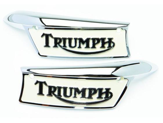 82-9700 82-9701 Triumph T120 TR6 (1967-70) T140 TR7 Petrol Tank Badges Painted