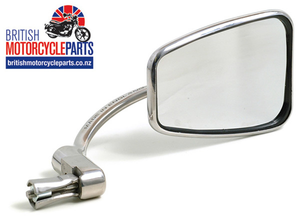 820 Halcyon Continental Head Bar End Mirror Stainless Steel - British Parts NZ