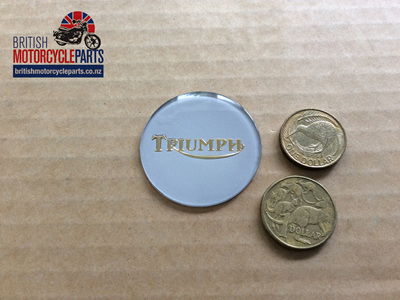 83-4776 Petrol Tank Centre Badge - Gold/Silver