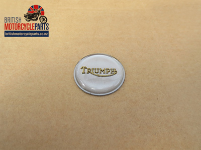 83-4776 Petrol Tank Centre Badge - Gold/Silver