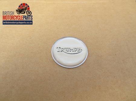 83-4776B Triumph Petrol Tank Centre Badge - Silver Chrome