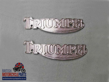 83-5361 60-7210 Petrol Tank Badges - T160 Late T140 - PAIR