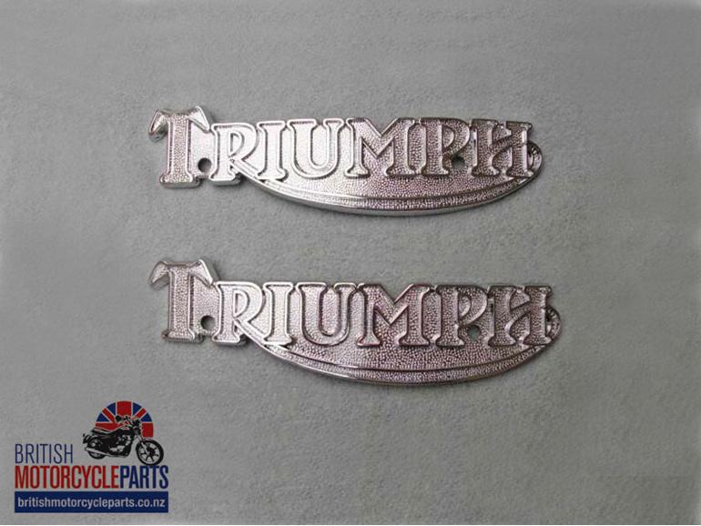 83-5361 60-7210 Petrol Tank Badges - T160 Late T140 - Pair - Classic British NZ