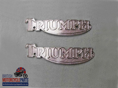 83-5361 60-7210 Petrol Tank Badges - T160 Late T140 - Pair