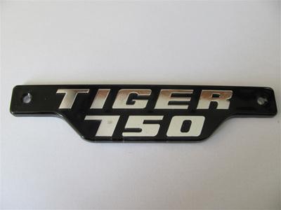 83-7334 Tiger 750 Badge 79on Chrome/Black