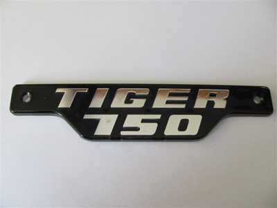 Tiger 750 Badge 79on Chrome/Black