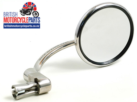 830 Halcyon Bar End Mirror - Round - Stainless